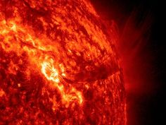 In late December an active region on the sun spewed dozens of outbursts over a 36-hour period, including the bright flare and spout of plasma—charged gas—seen in this video still from NASA's Solar Dynamics Observatory.    The action was driven by strong magnetic forces on the sun's surface, which can pull against each other violently, triggering bursts of solar material that get hurled into space.