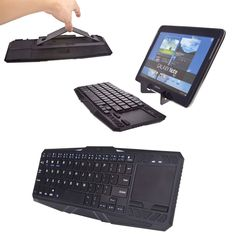 Cooper Cases(TM) Touchpad K5000 Samsung Galaxy Note Pro 12.2 (P900) / 3G (P901) Tablet Bluetooth Keyboard Dock with Touchpad in Black (US English QWERTY Keyboard, 64 Laptop-Style keys, Hidaway Kickstand for Hands-Free Display Support)