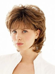 Salsa | Synthetic Wig (Basic Cap) Short Hair With Layers, Layered Hair, Short Hair Cuts, Pixie Cuts, Hair Styles For Women Over 50, Medium Hair Styles, Curly Hair Styles, Pixie Styles, Shag Hairstyles