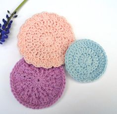Face Scrubbies Cotton re-usable Face Pads Eco by MissCrocreations