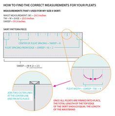 DIY Pleated Flare Skirt -