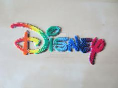 disney colourful sign