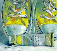 Happy Feet by Brenda Ferguson Painting Still Life, Still Life Art, Collages, Ap Studio Art, Ap Art, Arte Pop, Cool Paintings, Illustrations, Art Studios