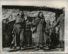 1947 Press Photo People Do Native Dance, Partisan-Held Kastanofiton, Greece