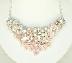 Hey, I found this really awesome Etsy listing at https://www.etsy.com/listing/187032805/soft-pink-bridal-necklace-pearl-and