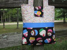 Cupcake totebag by granniesraggedybags on Etsy, $22.00