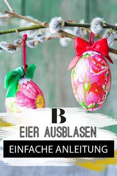 Eier ausblasen für Ostern: So macht man es richtig! Wir haben es schon als Kinder geliebt und jetzt freuen wir uns drauf, es mit unseren Kleinen zu tun: Eier ausblasen und bemalen ist eine tolle Ostertradition! Wir verraten, was ihr beachten müsst. Happy Easter, Christmas Bulbs, Easter Ideas, Holiday Decor, Spring, Diy, Inspiration, Tricks, Blog