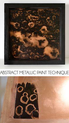 Abstract Metallic Paint Technique