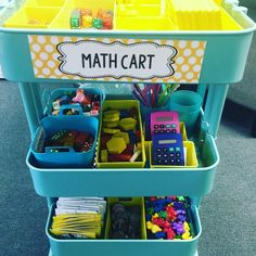 This is how I use my IKEA cart! Perfect for students to grab what they need! #IKEA #ťeachersofinstagram #firstgrade #iteachtoo #guidedmath…