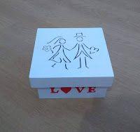 """Artesanatos Munck: Caixa Noivinhos """"Love"""""""