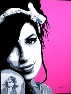 Image uploaded by Ana Laura Zarafa. Find images and videos about pop art, Amy Winehouse and amy winehouse pop art on We Heart It - the app to get lost in what you love. Amy Winehouse, Art Pop, Pop Art Tattoos, Tattoo Art, Modern Pop Art, Stencil Art, Stencils, Illustration, Pop Culture