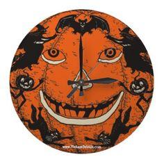 Vintage Beistle Halloween Wall Clock   $24.95 #beistle #halloweenclocks