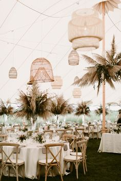 Ultimate boho-chic tented wedding reception at Weekapaug Inn in Westerly, Rhode Island. Brought to life by Florist- Hana Floral Design, Photographer- Henry + Mac and Planner- Ryan Designs. Boho Beach Wedding, Chic Wedding, Wedding Trends, Fall Wedding, Dream Wedding, Glamorous Wedding, Tropical Wedding Reception, Wedding Ideas, Marquee Wedding