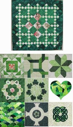 Free patterns: St. Patrick's Day.  Quilt Inspiration.  Updated March 4, 2014