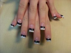black and white french tips | French-manicure-black-and-white.jpeg