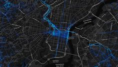 That line down Broad Street has everything to do with the Broad Street Run.  New Interactive Heat Map Shows Philly's Most Popular Running and Biking Routes - Be Well Philly