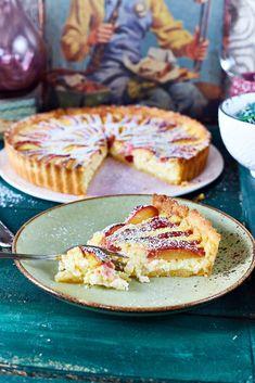 Túrós nektarinos pite | Street Kitchen Tart Recipes, Cooking Recipes, Healthy Recipes, Pie Tops, Sweet Cakes, Winter Food, Cake Cookies, No Bake Cake, Food And Drink