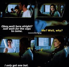 Stiles only has one bat. Teen Wolf