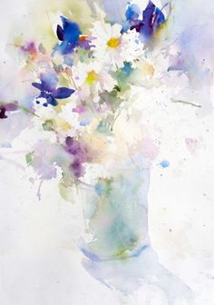 Sunny Bouquet, watercolor by Janet Rogers Watercolour Painting, Watercolor Flowers, Painting & Drawing, Art Floral, Watercolor Pictures, Watercolor Techniques, Art Projects, Artwork, Tuscany