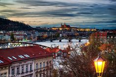 The Sunset in Prague seen from Vysehrad by Karel Dobes on 500px