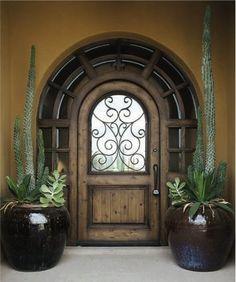 A unique, custom entryway by Door Works