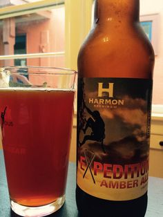 Beer #104. 4/2/15. Expedition Amber. Harmon Brewery. This is one I really liked (admittedly, I have an amber/pale ale bias.) Very full in flavor. 3.5 Stars.