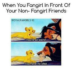 Except I have no non fangirl friends 😂