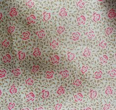 Small Roses print lawn cotton pink