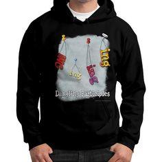 Gildan Hoodie (on man) Black WordPlay T-Shirts