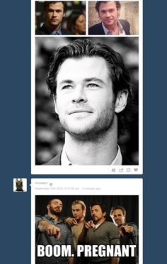 So, the Chris Hemsworth tag did a thing. #Thor #Avengers