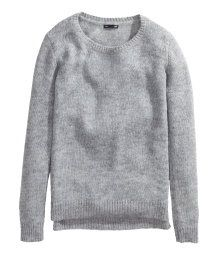 H&M Grey Knitted Jumper