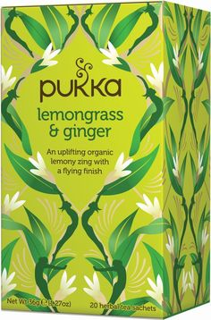 Pukka Organic Herbal Tea Lemongrass and Ginger -- 20 Tea Bags * You can find out more details at the link of the image. (This is an affiliate link) Organic Herbal Tea, Organic Herbs, Herbal Teas, Ayurveda, Verbena, Ginger Tea Bags, Pukka Herbs, Chocolate Covered Raisins, Citronella