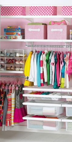 Organized closet for little girls  http://rstyle.me/n/d9ecknyg6