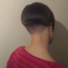 Resultado de imagen de ultimate shaved nape bob - Another! Short Wedge Hairstyles, Edgy Short Hair, Stacked Bob Hairstyles, Girls Short Haircuts, Cool Haircuts, Short Hair Cuts, Easy Hairstyles, Short Hair Styles, Hairstyles Videos