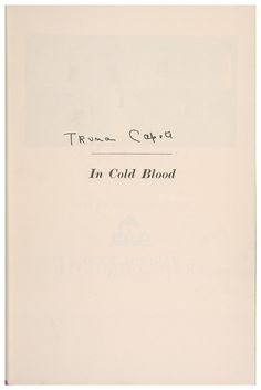 What should I write about in my essay for In Cold Blood?