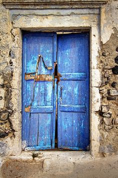 The Ambling Photographer: The Old Blue Door, Santorini island, Greece…