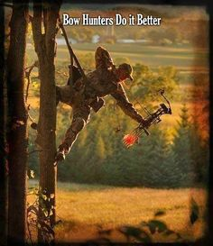 Go bow hunting. Bow Hunting - I can't do it this way, but Scott, my youngest, does. Archery Bows, Archery Hunting, Hunting Gear, Deer Hunting, Archery Girl, Outdoor Life, Outdoor Fun, Bow Hunter, Survival