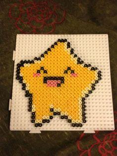 Kawaii star hama beads - Marine Pixel Art Créations