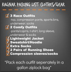 How to Pack for Ragnar Relay
