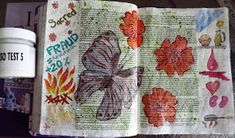 A Pretty Talent Blog: Product Test - Clear Gesso Trial Sample: Application 2 - Bible Journaling Sample 5 Burnt Offerings, Watercolor Pans, Sharpie Markers, Ink Wash, Journal Entries, Product Review, Adult Coloring, Journaling, Arts And Crafts