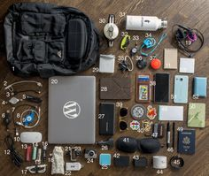 What's Inside My Bag, Many people have been requesting an update to my what's in my bag post from last year. Almost every single item in the bag has changed, this year has had particularly high (Diy Tech Bag) Edc Backpack, What's In My Backpack, Edc Bag, What In My Bag, What's In Your Bag, Inside My Bag, Edc Everyday Carry, Edc Carry, Go Bags