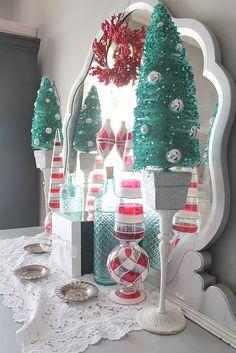 aqua and red christmas decor coastal christmas shabby chic christmas blue christmas christmas - Red And Turquoise Christmas Decorations