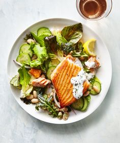 Wild Alaskan salmon is the cleanest (low-mercury) variety of salmon. Before searing a fillet, pat very dry with paper towels to avoid sticking.