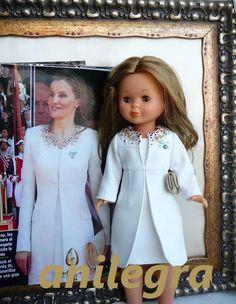 Nancy Abrigo blanco coronación.