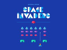 Material Design Space Invaders by Noam Elbaz