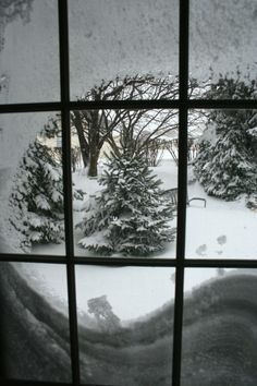Taken from the inside during the blizzard of