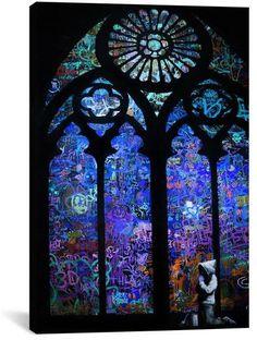 Apt2B Banksy STAINED GLASS WINDOW II