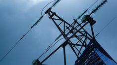 Power Line and Clouds #Blue, #BlueSky, #Business, #Cable, #Charge, #Clouds, #Construction, #Danger, #Dangerous, #Diagonal, #DiagonalLines, #Distribution, #Dynamic, #Electric, #Electricity, #Moovstock http://goo.gl/LM0R6l