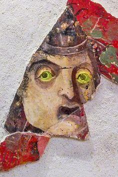 Sizilien - die antike Stätte Solunto - Fragment einer Wandmalerei. https://www.trip-tipp.com/sizilien/ausfluege-antike/solunto.htm #sizilien #sicily #sicilia