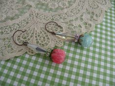 CANDY vintage assemblage earrings fresh find by lilyofthevally, $24.00